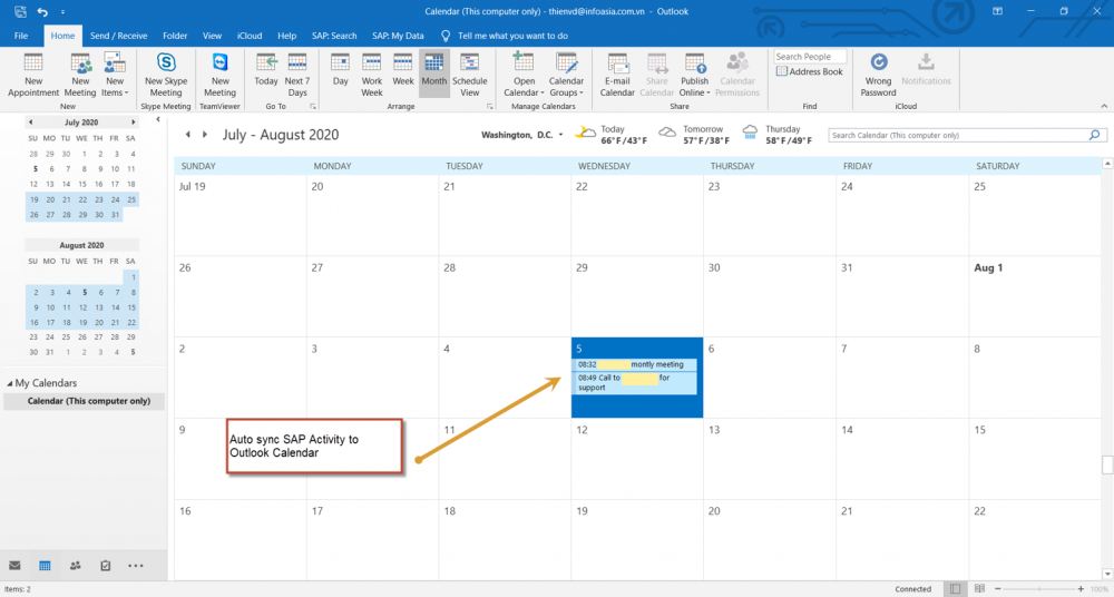After Sales Bp Activities Outlook Calendar
